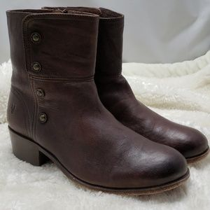 Frye Lynne Military leather boots